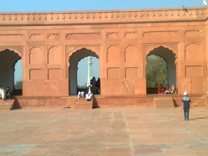 From here one can get a glimpse of Minar-e-Pakistan
